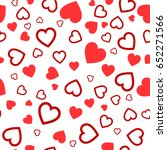 heart seamless pattern.colorful ... | Shutterstock .eps vector #652271566