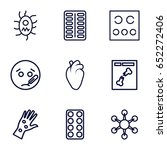 disease icons set. set of 9... | Shutterstock .eps vector #652272406