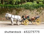 Old Horse Drawn Carriage With...