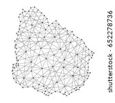 map of uruguay from polygonal... | Shutterstock . vector #652278736