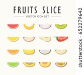 fruits slice menu with flat... | Shutterstock .eps vector #652279642