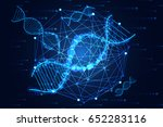 abstract technology science... | Shutterstock .eps vector #652283116