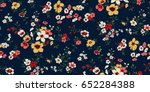seamless floral pattern in... | Shutterstock .eps vector #652284388