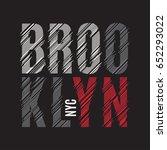 brooklyn new york tee print. t... | Shutterstock .eps vector #652293022