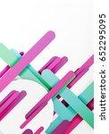 cut 3d paper color straight... | Shutterstock . vector #652295095