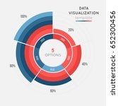 vector circle chart infographic ... | Shutterstock .eps vector #652300456