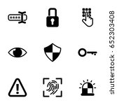 set of simple icons on a theme... | Shutterstock .eps vector #652303408