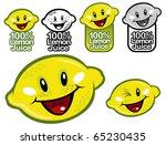 lemon juice seal in vectors | Shutterstock .eps vector #65230435