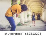 photographer taking picture of... | Shutterstock . vector #652313275