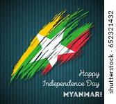 myanmar independence day...   Shutterstock .eps vector #652321432