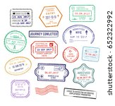 raster set of isolated visa... | Shutterstock . vector #652322992