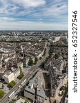 aerial view of nantes downtown | Shutterstock . vector #652327546