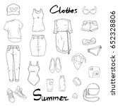 set with isolated fashion... | Shutterstock .eps vector #652328806