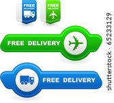 free delivery elements for sale | Shutterstock .eps vector #65233129