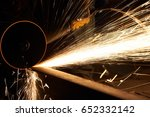 metalworking machining industry.... | Shutterstock . vector #652332142