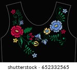 vector design for collar t... | Shutterstock .eps vector #652332565