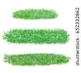 illustration of cute grass set  ... | Shutterstock . vector #652332862