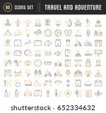 set vector line icons  sign and ... | Shutterstock .eps vector #652334632