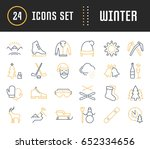 set vector line icons  sign and ... | Shutterstock .eps vector #652334656