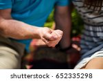 man holding in his hands the... | Shutterstock . vector #652335298