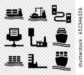 port icons set. set of 9 port... | Shutterstock .eps vector #652346326
