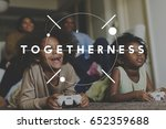 happiness together family love... | Shutterstock . vector #652359688