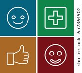 positive icons set. set of 4... | Shutterstock .eps vector #652364902