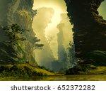 3d illustration of landscape... | Shutterstock . vector #652372282