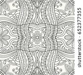 black and white doodle sketch... | Shutterstock .eps vector #652377355
