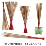 incense on isolate and white...   Shutterstock . vector #652377748