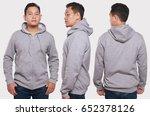 blank sweatshirt mock up  front ... | Shutterstock . vector #652378126