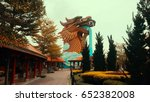 dragon building in suphan buri  ... | Shutterstock . vector #652382008
