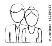 avatar couple icon | Shutterstock .eps vector #652384396