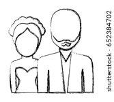 avatar couple icon | Shutterstock .eps vector #652384702
