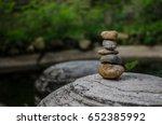 stone tower over big gray rock... | Shutterstock . vector #652385992