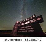 the milky way rises and shines... | Shutterstock . vector #652386742