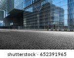 empty downtown street... | Shutterstock . vector #652391965