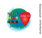 world blood donor day design | Shutterstock .eps vector #652394236