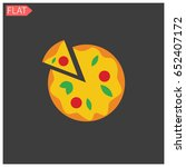 pizza in flat style | Shutterstock .eps vector #652407172
