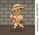 african boy explorer reading... | Shutterstock .eps vector #652408735