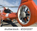 Closeup Of The Tail Rotor Of A...