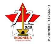 indonesia independence day... | Shutterstock .eps vector #652422145