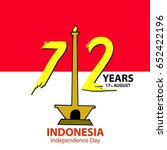 indonesia independence day... | Shutterstock .eps vector #652422196