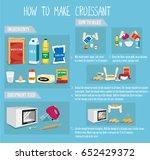 how to make croissant | Shutterstock .eps vector #652429372