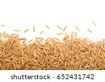 yellow paddy jasmine rice... | Shutterstock . vector #652431742