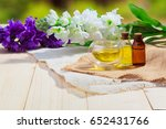 bottle of aroma essential oil... | Shutterstock . vector #652431766