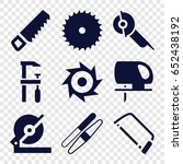 saw icons set. set of 9 saw... | Shutterstock .eps vector #652438192