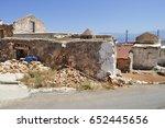 ruins of rural buildings  ...   Shutterstock . vector #652445656