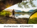 fishing adventures  carp... | Shutterstock . vector #652446952