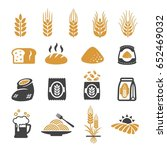 wheat icon | Shutterstock .eps vector #652469032